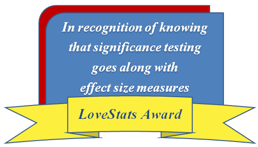award effect size significance