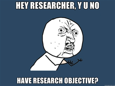 no research objective