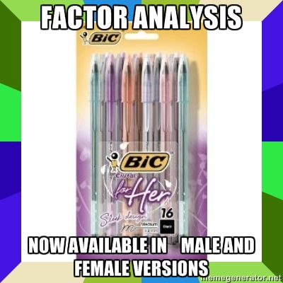 bic for her factor analysis