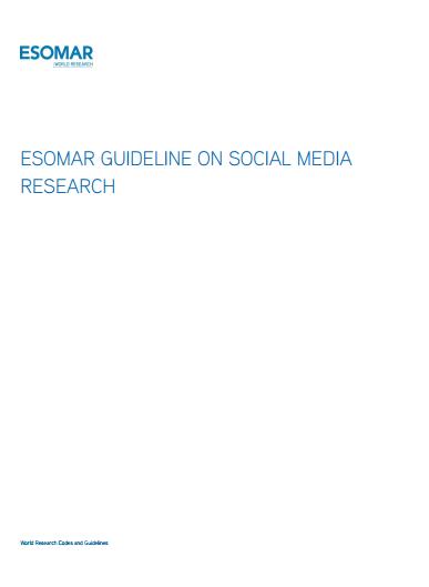 ESOMAR SMR Guidelines