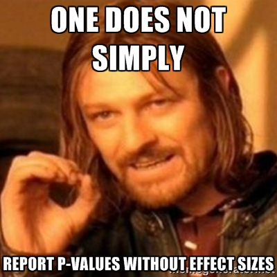 p values effect sizes statistics
