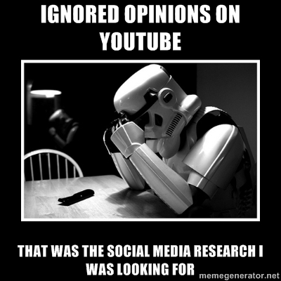 sad trooper social media research