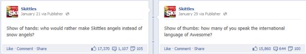 skittles facebook