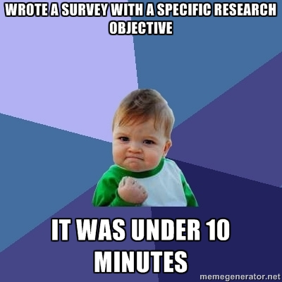 success kid short survey meme