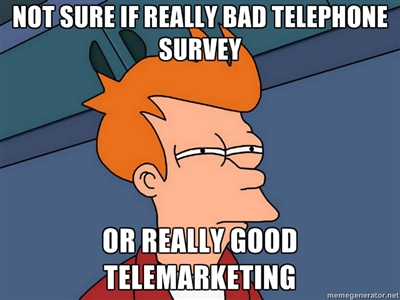 telemarketing futurama meme