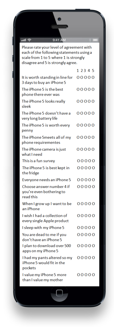 iphone 5 survey