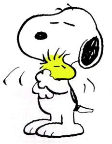 hug snoopy