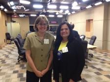 Annie and Kara ready to speak in the Senate Committee room